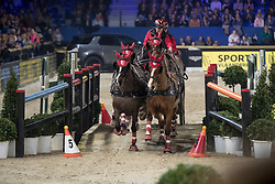 Voutaz Jerome, SUI, Belle du Peupe, Eva III, Folie des Moulins, Leny <br /> FEI World Cup Driving presented by Jumping Mechelen<br /> Vlaanderens Kerstjumping Memorial Eric Wauters<br /> © Dirk Caremans<br /> 27/12/2016