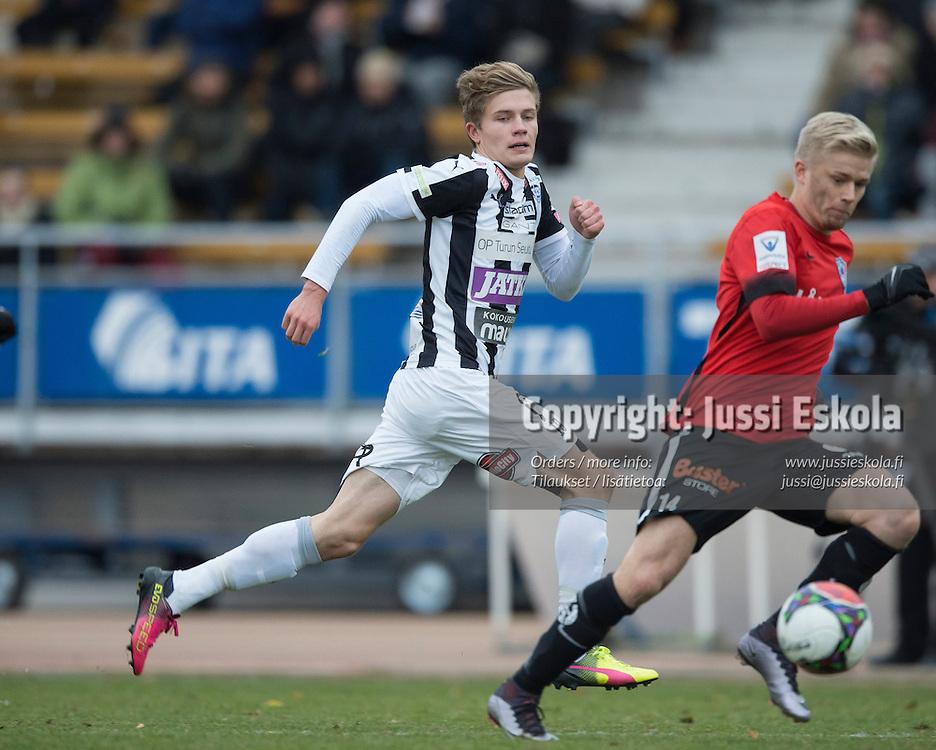 Oskari Jakonen. TPS - Inter. 1. osaottelu, karsinta. Veikkausliiga. Ykkönen. Turku. 26.10.2016. Photo: Jussi Eskola