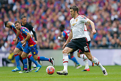 Michael Carrick of Manchester United in action - Mandatory byline: Rogan Thomson/JMP - 21/05/2016 - FOOTBALL - Wembley Stadium - London, England - Crystal Palace v Manchester United - FA Cup Final.