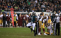 Eagles Fletcher Cox is seen celebrating a play during the December 26, 2015 NFC East Division game between Washington Redskins and Philadelphia Eagles at Lincoln Financial Field.  (photo by Bastiaan Slabbers)