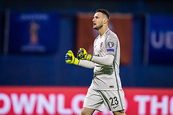 Danijel Subasic of Croatia celebrate during the football match between National teams of Croatia and Greece in First leg of Playoff Round of European Qualifiers for the FIFA World Cup Russia 2018, on November 9, 2017 in Stadion Maksimir, Zagreb, Croatia. Photo by Ziga Zupan / Sportida