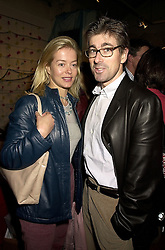 MR TIM & LADY HELEN TAYLOR at an exhibition in London on 25th October 2000.OIG 86