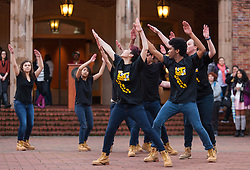 Lute Nation performing during the Celebration of Light, exploring religious and cultural aspects of the holiday followed by singing and lighting the trees around Red Square at PLU, Wednesday, Nov. 30, 2016. (Photo: John Froschauer/PLU)