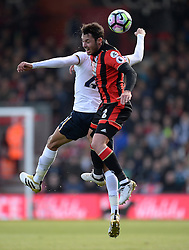Adam Smith of Bournemouth wins a high ball. - Mandatory by-line: Alex James/JMP - 22/10/2016 - FOOTBALL - Vitality Stadium - Bournemouth, England - AFC Bournemouth v Tottenham Hotspur - Premier League