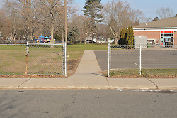 Hanover Elementary School - Kindergarten Addition.James R Anderson Photographer | photog.com 203-281-0717.Andrade Architects, LLC. Enfield Builders, Inc..Photography Date: 14 December 2011.Camera View: North, North side of May Street. Sidewalks along street and into School property..Image Number 02