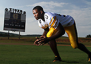 Portrait of Harris County High School Defensive End Jordan Jenkins.