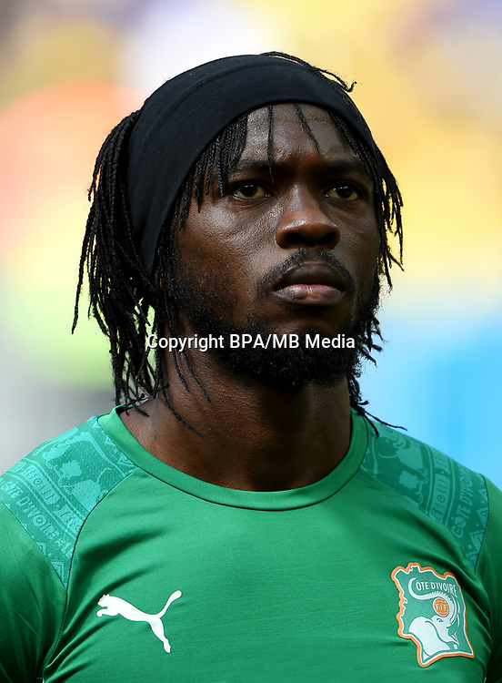 Confederation of African Football - World Cup Fifa Russia 2018 Qualifier / <br /> Ivory Coast National Team - Preview Set - <br /> Gervais Yao Kouassi - Gervinho