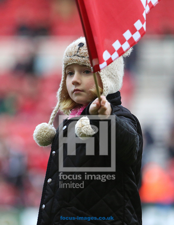 Picture by Paul Gaythorpe/Focus Images Ltd +447771 871632.26/01/2013.Middlesbrough fan before the FA Cup match at the Riverside Stadium, Middlesbrough.