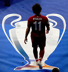 MADRID, SPAIN - SATURDAY, JUNE 1, 2019: Liverpool's Mohamed Salah during the UEFA Champions League Final match between Tottenham Hotspur FC and Liverpool FC at the Estadio Metropolitano. (Pic by Handout/UEFA)