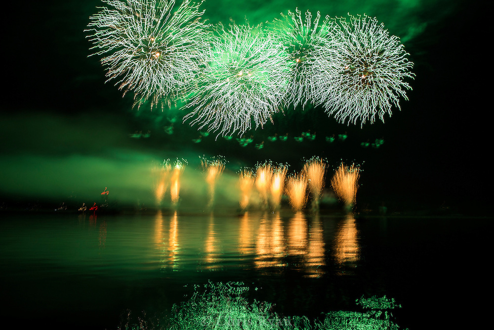 Independence Day fireworks in the San Juan Islands, Washington