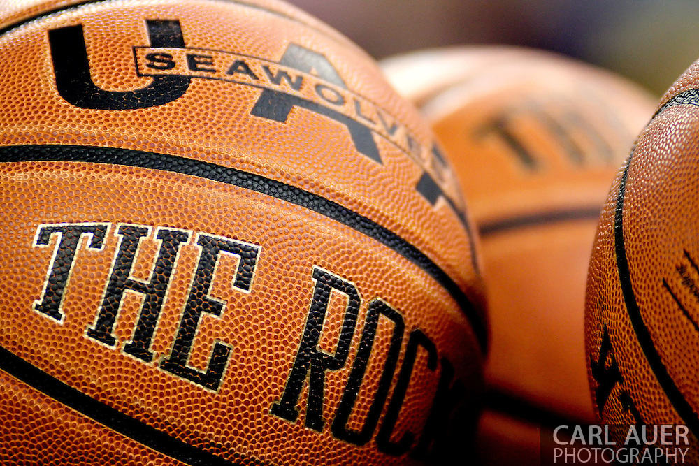 11/25/2006 - Anchorage, Alaska: The Rock, the official basketball of the University of Alaska-Anchorage is the official ball of the 2006 Great Alaska Shootout<br />