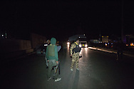 5/1/2016--Iraq,Daquq-- The working team while heading to Daquq in purpose of arresting the third suspect of the kidnappers.