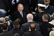 Former President George W. Bush arrives for the President Inaugural Ceremony on Capitol Hill January 20, 2017 in Washington, DC. Donald Trump became the 45th President of the United States in the ceremony.