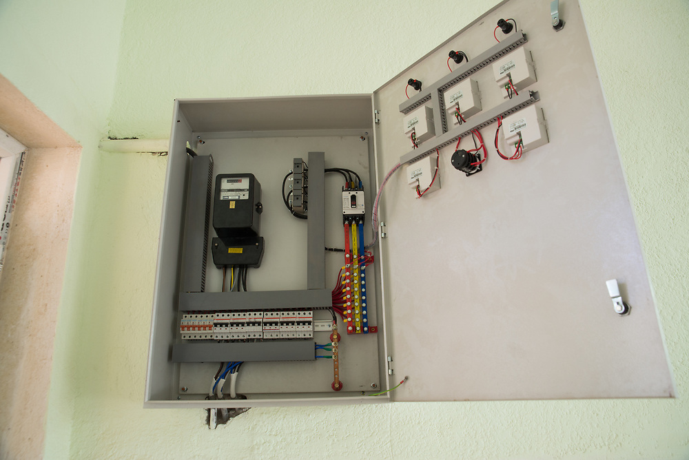 11 October 2017 &ndash; Ninewa Plains &ndash; Iraq &ndash; A new electrical board at the Rasen Primary Mixed School in the Alhamdain Sub District in the Ninewa Plains. <br /> <br /> UNDP&rsquo;s Funding Facility for Stabilization is helping rehabilitate school's across the region so students can return to the classroom. <br /> <br /> &copy; UNDP Iraq / Claire Thomas