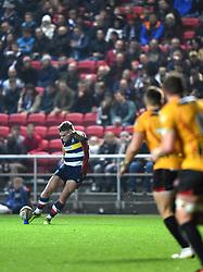 Ian Madigan of Bristol Rugby converts - Mandatory by-line: Paul Knight/JMP - 22/12/2017 - RUGBY - Ashton Gate Stadium - Bristol, England - Bristol Rugby v Cornish Pirates - Greene King IPA Championship