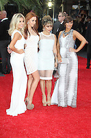 Mollie King; Una Healy; Vanessa White; Frankie Sandford; The Saturdays, The Hangover III European Film Premiere, Empire Cinema Leicester Square, London UK, 22 May 2013, (Photo by Richard Goldschmidt)