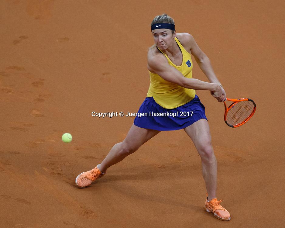 GER-UKR, Deutschland - Ukraine, <br /> Porsche Arena, Stuttgart, internationales ITF  Damen Tennis Turnier, Mannschafts Wettbewerb,<br /> ELINA SVITOLINA (UKR)