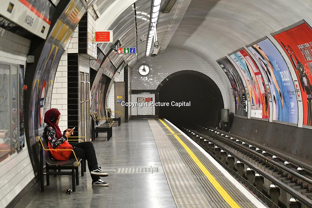 Marble Arch underground tube station, on 22 April 2019, London, UK.