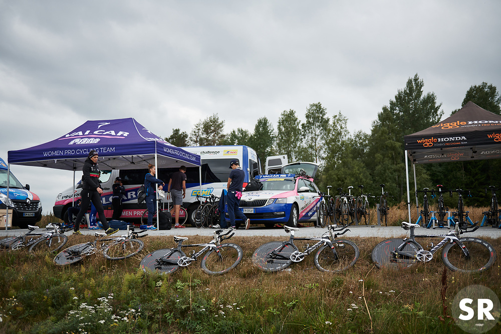 Valcar PBM at Ladies Tour of Norway 2018 Team Time Trial, a 24 km team time trial from Aremark to Halden, Norway on August 16, 2018. Photo by Sean Robinson/velofocus.com