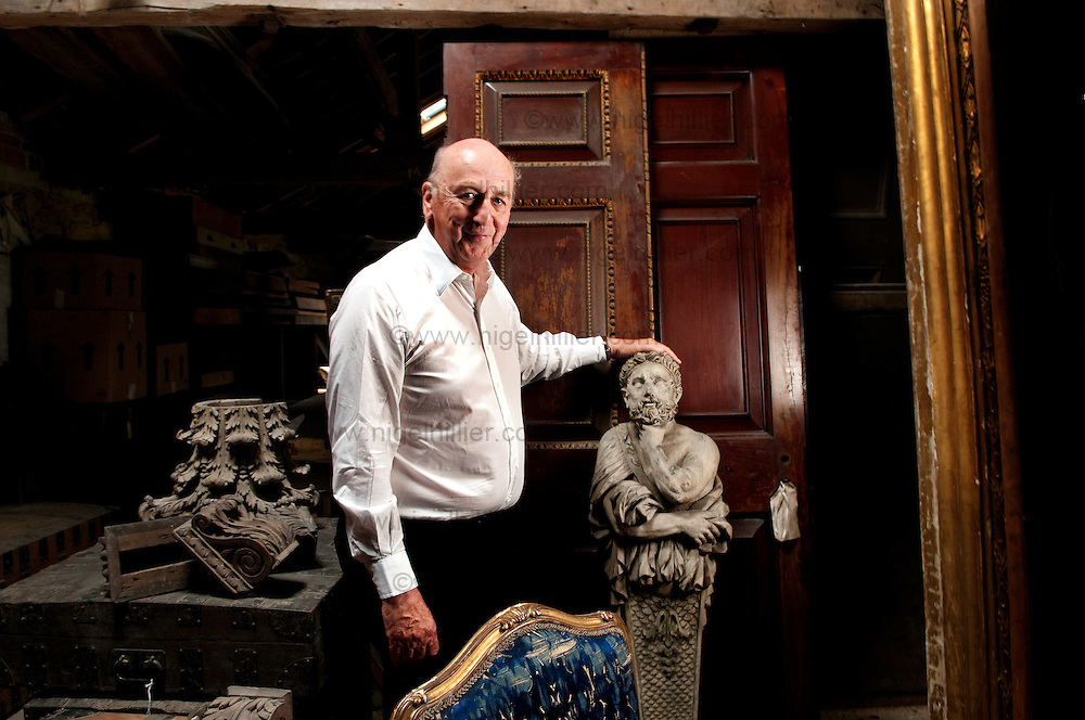 The Duke of Devonshire in his attic at Chatsworth House