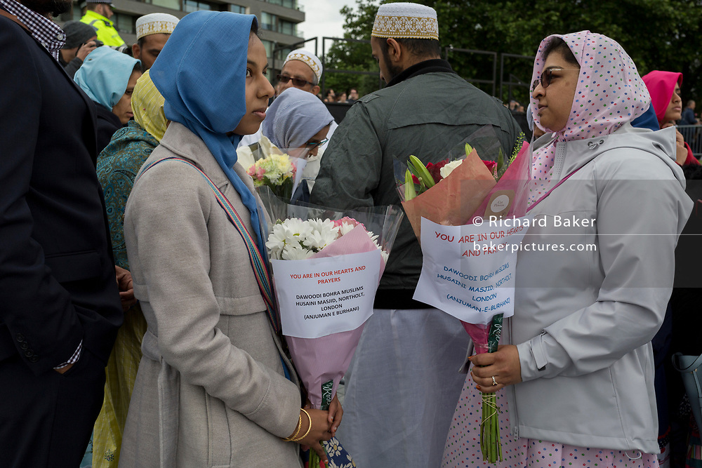 Two days after the London Bridge and Borough Market terrorist attack, Londoners from all faiths and religions attended a vigil outside City Hall, on Monday 5th June 2017, in the south London borough of Southwark, England. A prominent armed police presence guarded dignitaries and the public who came to the Southbank to remember the seven killed and many others left with life-changing injuries. The British spirit of defiance and to carry on with every day life, endures.