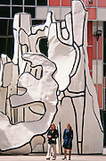 """Monument with Standing Beast"" sculpture by Jean Dubuffet at James R. Thompson Center, Chicago, Illinois"