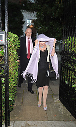 CLAUS VON BULOW and LADY RAYNE at a Summer party hosted by Lady Annabel Goldsmith at her home Ormeley Lodge, Ham, Surrey on 14th July 2009.