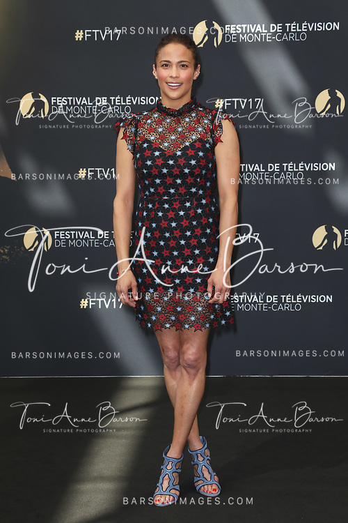 "MONTE-CARLO, MONACO - JUNE 19:  Paula Patton attends ""Somewhere Between"" photocall on June 19, 2017 at the Grimaldi Forum in Monte-Carlo, Monaco.  (Photo by Tony Barson/FilmMagic)"