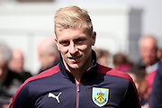 Burnley defender Ben Mee (6)  during the Sky Bet Championship match between Burnley and Queens Park Rangers at Turf Moor, Burnley, England on 2 May 2016. Photo by Simon Davies.