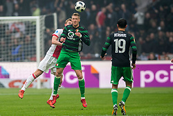 21-01-2018 NED: AFC Ajax - Feyenoord, Amsterdam<br /> Ajax was met 2-0 te sterk voor Feyenoord / Nicolai Jorgensen #9 of Feyenoord, Matthijs de Ligt #4 of AFC Ajax