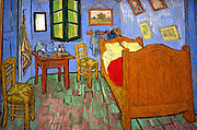 La chambre  à Arles' (Bedroom at Arles), 1888. Oil on canvas.  Vincent van Gogh (1853-1890) Dutch Post-Impressionist painter.