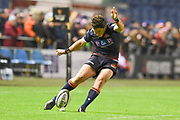 Conversion from Simon Hickey during the Guinness Pro 14 2018_19 match between Edinburgh Rugby and Southern Kings at BT Murrayfield Stadium, Edinburgh, Scotland on 5 January 2019.