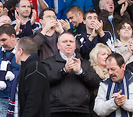 Former Dundee chairman Jimmy Marr (centre) joins in the standing ovation for Dundee at full time - Stirling Albion v Dundee, IRN BRU Scottish League 1st Division, Forthbank Stadium, Stirling<br /> <br />  - &copy; David Young<br /> ---<br /> email: david@davidyoungphoto.co.uk<br /> http://www.davidyoungphoto.co.uk