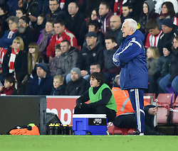 Ipswich Town Manager, Mick McCarthy shouts instruction to his players at St Mary's Stadium - Photo mandatory by-line: Paul Knight/JMP - Mobile: 07966 386802 - 04/01/2015 - SPORT - Football - Southampton - St Mary's Stadium - Southampton v Ipswich Town - FA Cup Third Round