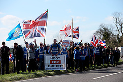 UK ENGLAND LEICESTERSHIRE 25MAR19 - Roughly 80 people march during the Vote Leave March across England in Leicestershire, England.<br /> <br /> jre/Photo by Jiri Rezac / Led By Donkeys<br /> <br /> © Jiri Rezac 2019