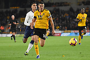 Erik Lamela midfielder of Tottenham Hotspur (11) chases Wolverhampton Wanderers defender Conor Coady (16) during the Premier League match between Wolverhampton Wanderers and Tottenham Hotspur at Molineux, Wolverhampton, England on 3 November 2018.