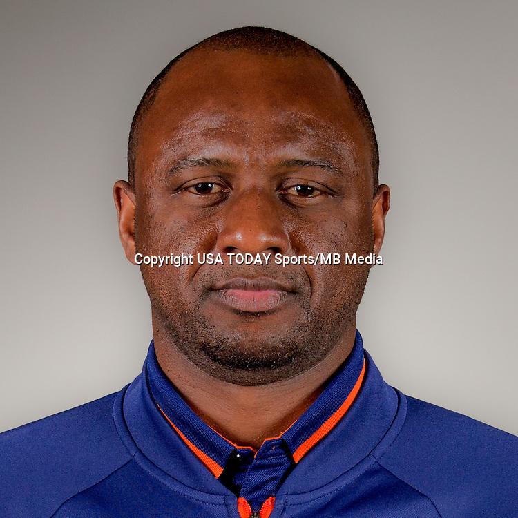 Feb 25, 2016; USA; New York City FC coach Patrick Vieira poses for a photo. Mandatory Credit: USA TODAY Sports
