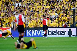 27-04-2008 VOETBAL: KNVB BEKERFINALE FEYENOORD - RODA JC: ROTTERDAM <br /> Feyenoord wint de KNVB beker - Theo Lucius<br /> ©2008-WWW.FOTOHOOGENDOORN.NL