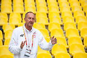 Dariusz Los trainer coach of Justyna Kasprzyk from Poland while women's high jump qualification during the 14th IAAF World Athletics Championships at the Luzhniki stadium in Moscow on August 15, 2013.<br /> <br /> Russian Federation, Moscow, August 15, 2013<br /> <br /> Picture also available in RAW (NEF) or TIFF format on special request.<br /> <br /> For editorial use only. Any commercial or promotional use requires permission.<br /> <br /> Mandatory credit:<br /> Photo by &copy; Adam Nurkiewicz / Mediasport