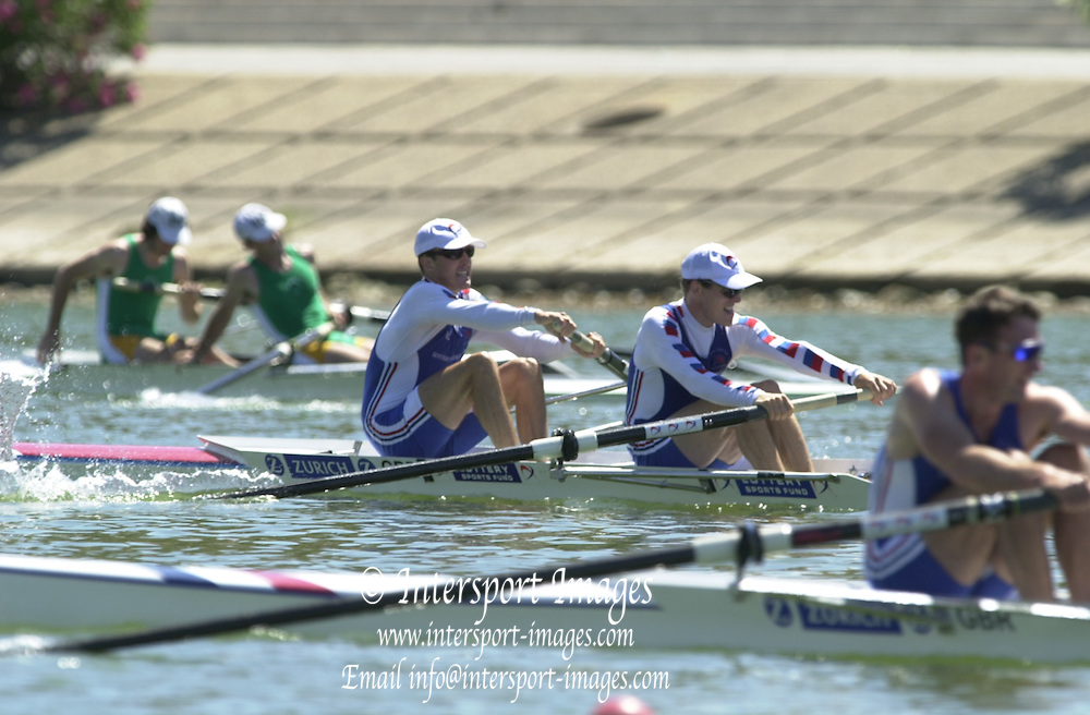 Peter Spurrier Sports  Photo.email pictures@rowingpics.com.Tel 44 (0) 7973 819 551.Tel/Fax 44 (0) 1784 440 772.Photo Peter Spurrier..2nd Rd FISA World Cup Seville. Day 3..GBR LM2- crew 2 Mike Hennessey and stk John Warnock. 20010515 FISA World Cup, Seville, SPAIN