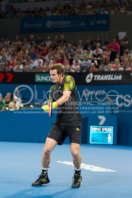 Andy MURRAY (GBR). Brisbane International Tennis Championship. Queensland Tennis Center, Tennyson, Brisbane, Queensland, Australia. 03/01/2013. Photo By Lucas Wroe