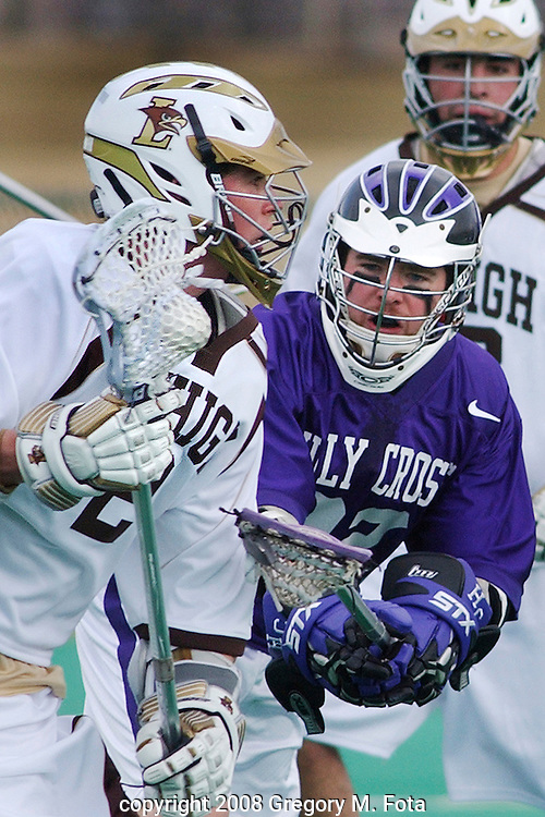 MEN'S LACROSSE--Lehigh vs .Holy Cross  03012008..Gregory M. Fota/ Fotagraphy