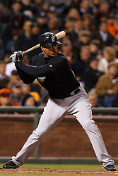 May 24, 2011; San Francisco, CA, USA;  Florida Marlins right fielder Mike Stanton (27) at bat against the San Francisco Giants during the eighth inning at AT&T Park. Florida defeated San Francisco 5-1.