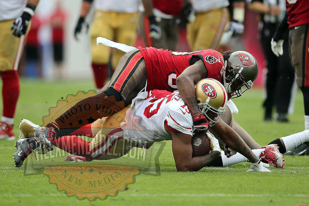 San Francisco 49ers wide receiver Michael Crabtree (15) during an NFL football game between the San Francisco 49ers  and the Tampa Bay Buccaneers on Sunday, December 15, 2013 at Raymond James Stadium in Tampa, Florida.. (Photo/Alex Menendez)
