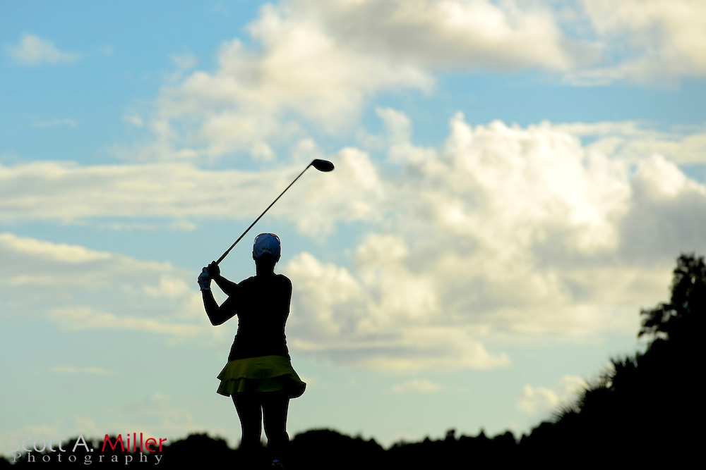 Melissa Eaton during the final round of the Symetra Tour Championship at LPGA International on Sept. 29, 2013 in Daytona Beach, Florida. <br /> <br /> <br /> &copy;2013 Scott A. Miller