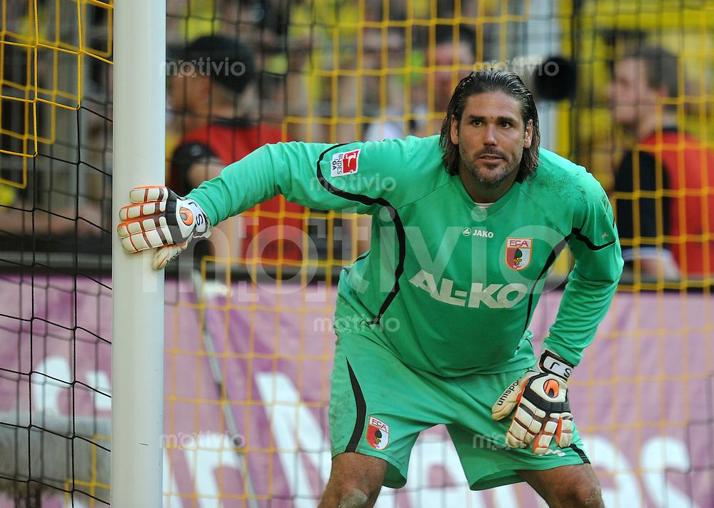 FUSSBALL   1. BUNDESLIGA   SAISON 2011/2012    8. SPIELTAG Borussia Dortmund - FC Augsburg                             01.10.2011 Torwart Simon JENTZSCH (FC Augsburg)