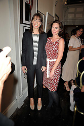 Left to right, sisters SAMANTHA CAMERON and ALICE SHEFFIELD at The Special Yoga Centre's annual art auction held at the 20th Century Theatre, 291 Westbourne Grove, London W11 on 16th May 2011.
