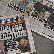 """New York Post  cover headlines about  President Trump """"Nuclear Reactors """"We'll see about attacking North Korea: Don Mattis warns Kim risks 'total annihilation""""."""