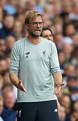 LONDON, ENGLAND - Saturday, August 27, 2016: Liverpool's manager Jürgen Klopp during the FA Premier League match again st Tottenham Hotspur at White Hart Lane. (Pic by David Rawcliffe/Propaganda)