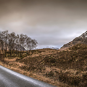 The road to Glen Etive from Rannoch moor